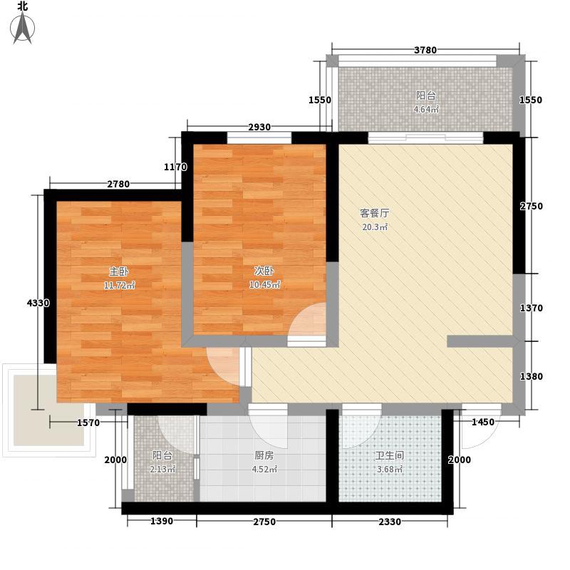 陆都嘉邸C户型:三房两厅一卫,91.76平米_调整大小户型3室