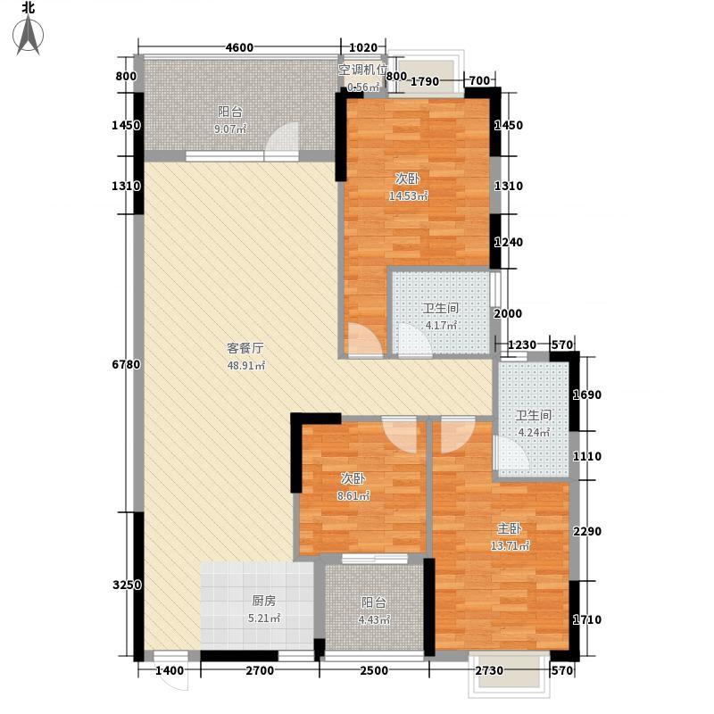 天域香格里拉户型3室