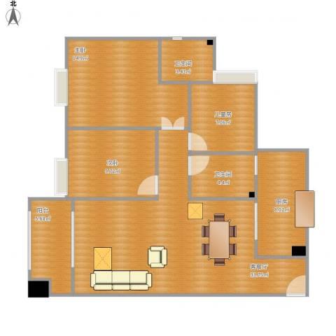 财信小区3室1厅2卫1厨118.00㎡户型图