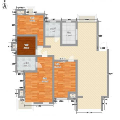 阳湖名城4室1厅2卫1厨149.00㎡户型图