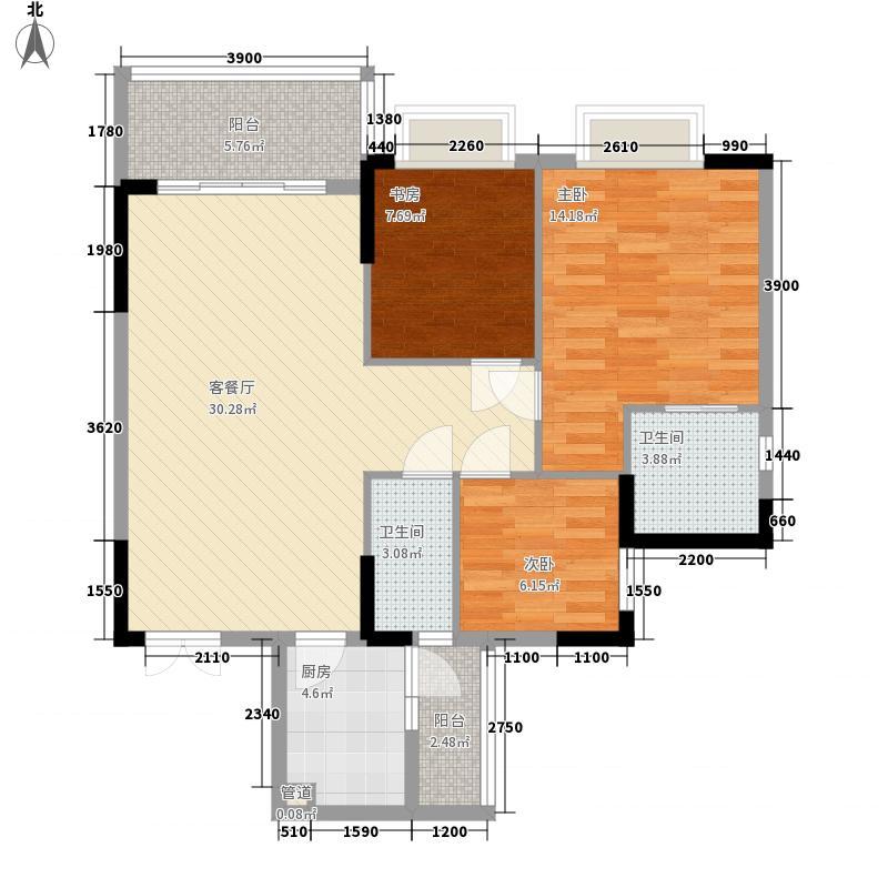 江滨花园江滨花园3室户型3室