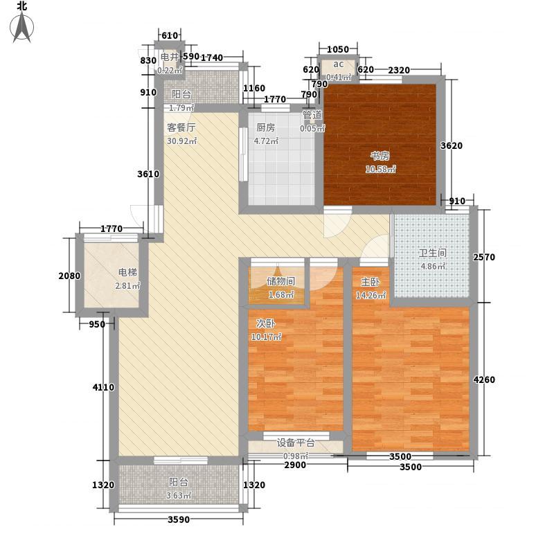 紫金新城129.00㎡紫金新城户型图多层D2户型3室2厅1卫户型3室2厅1卫