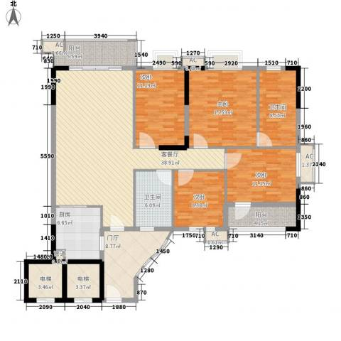 石竹山水园四期4室1厅2卫1厨154.00㎡户型图