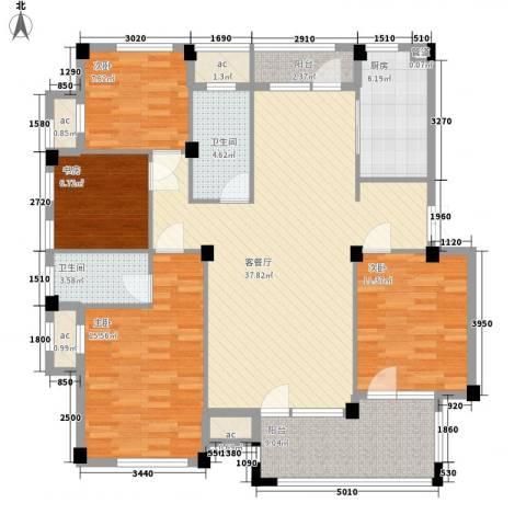 冠城晶典4室1厅2卫1厨154.00㎡户型图