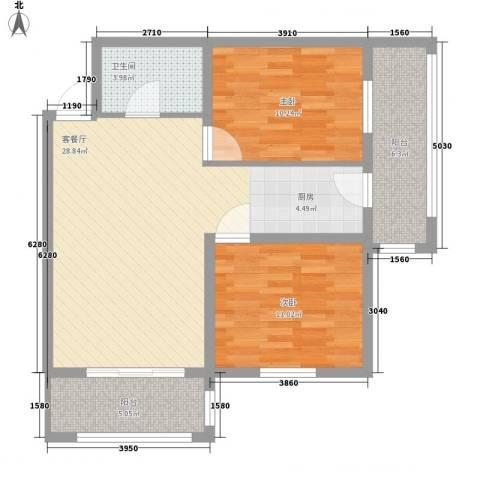 睿城臻品2室1厅1卫0厨65.45㎡户型图