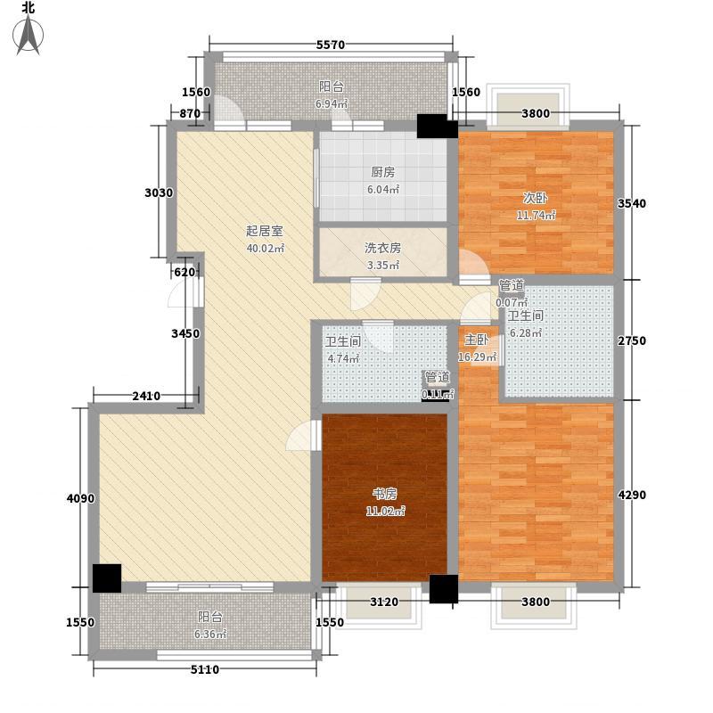 永利金色花园162.61㎡C1-2户型3室2厅2卫1厨