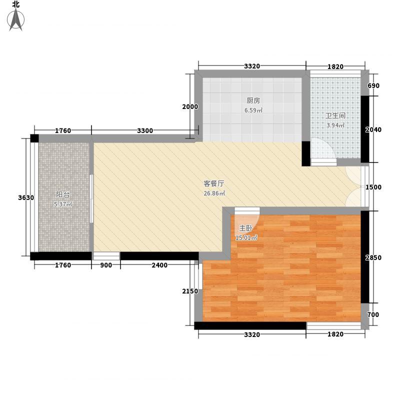 金陵海景花园75.00㎡金陵海景花园1室户型1室