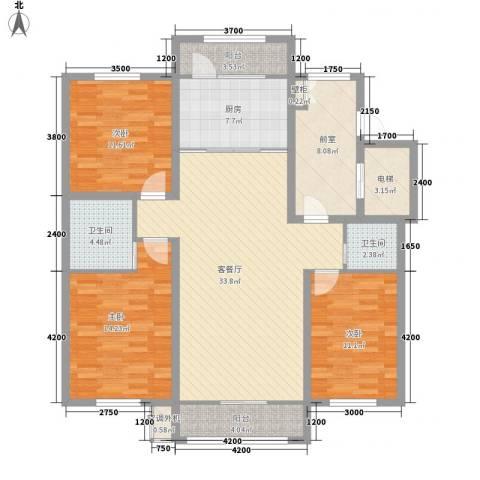 诺睿德国际商务广场3室1厅2卫1厨150.00㎡户型图