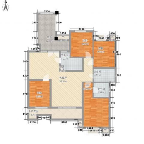 名邦锦绣年华4室1厅3卫0厨127.00㎡户型图