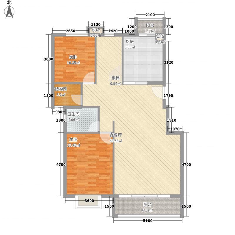 裕华嘉苑三期E1-3-跃层一层户型