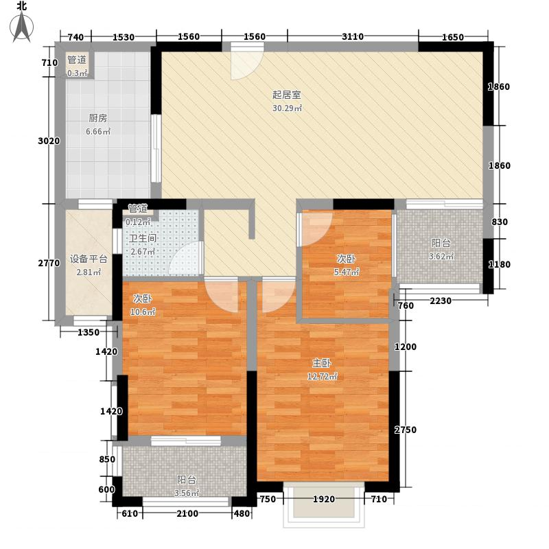 德诚翰景园114.00㎡德诚翰景园户型图5#04/05和6#02/03户型3室2厅1卫1厨户型3室2厅1卫1厨