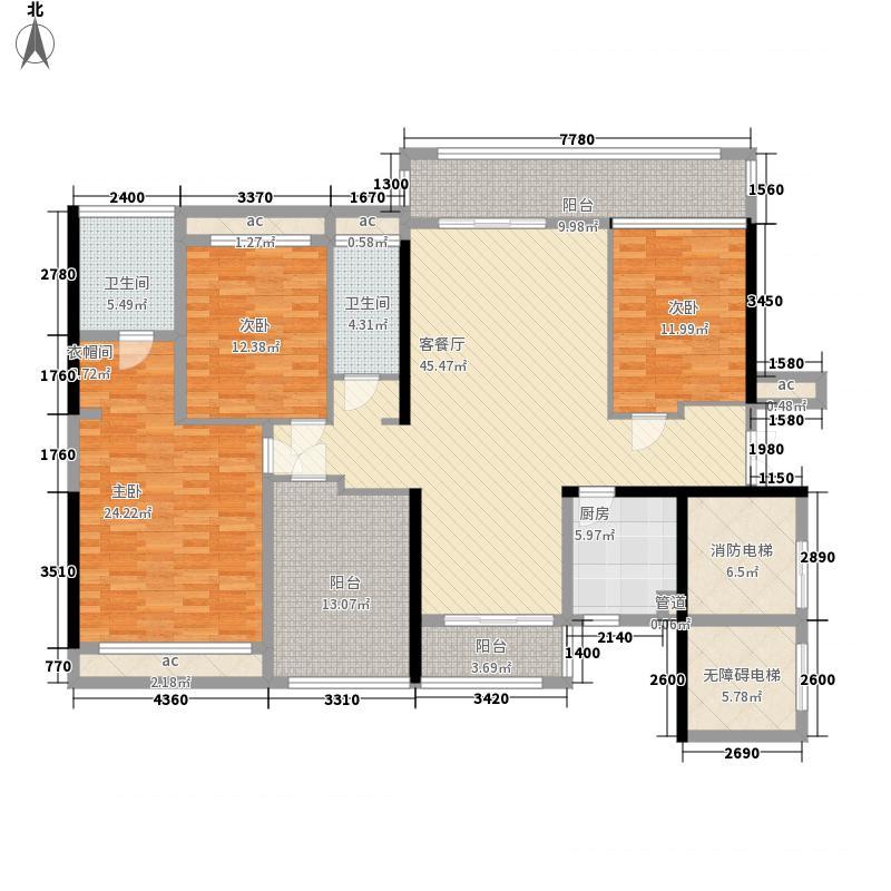 招商依云雍景湾153.00㎡1/2栋01/02户型4室2厅2卫1厨
