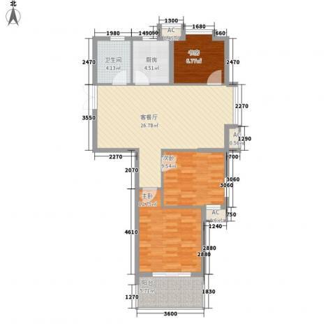 名邦锦绣年华3室1厅1卫1厨102.00㎡户型图