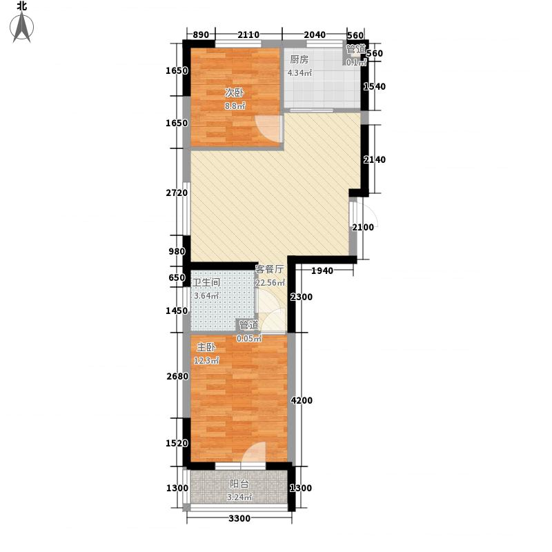 澳海西湖印象77.00㎡澳海西湖印象户型图C区高层R1户型2室2厅1卫1厨户型2室2厅1卫1厨