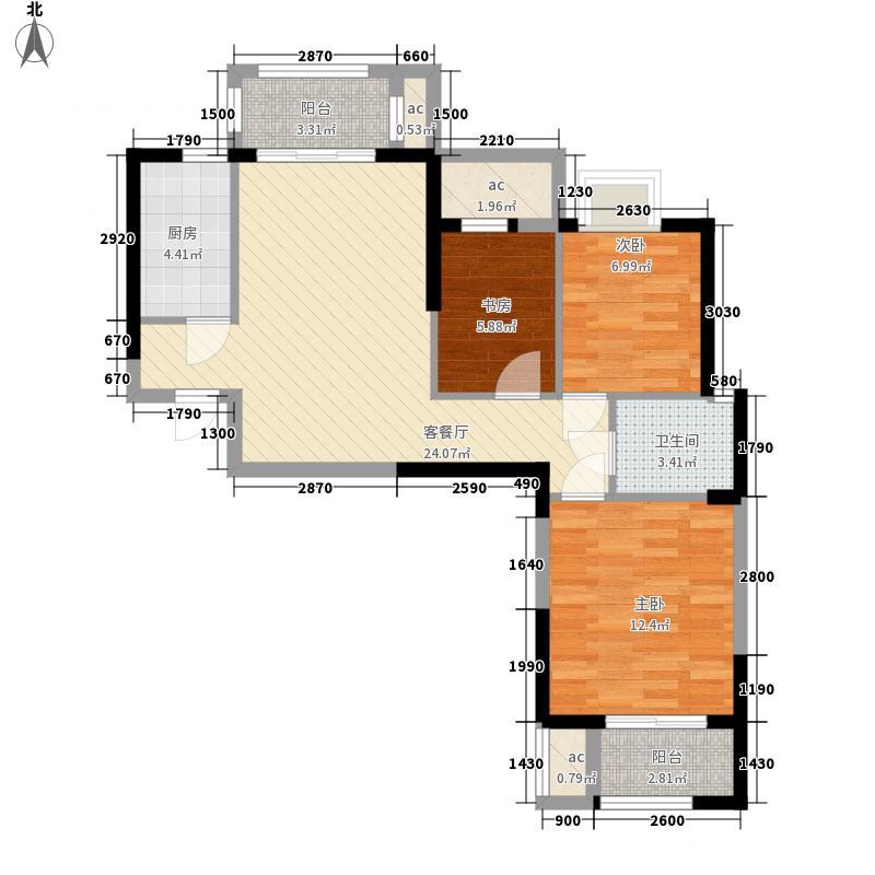 美联联邦生活区一期美联时光里k-1-1、2号楼C户型