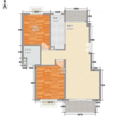 远景佳苑三期2室1厅1卫1厨93.00㎡户型图