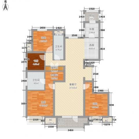 华润海中国4室1厅2卫0厨135.00㎡户型图