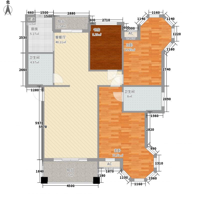 钱塘彩虹城134.76㎡三期1819号楼1层K户型3室2厅2卫1厨