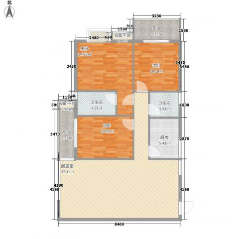 柒星景3室0厅2卫1厨124.00㎡户型图