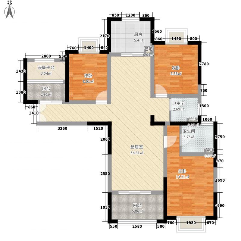 德诚翰景园133.00㎡德诚翰景园户型图5#03/6#04户型3室2厅2卫1厨户型3室2厅2卫1厨