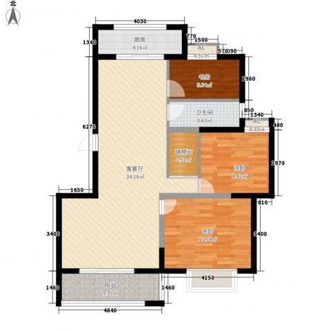 博奥东苑3室1厅1卫1厨112.00㎡户型图