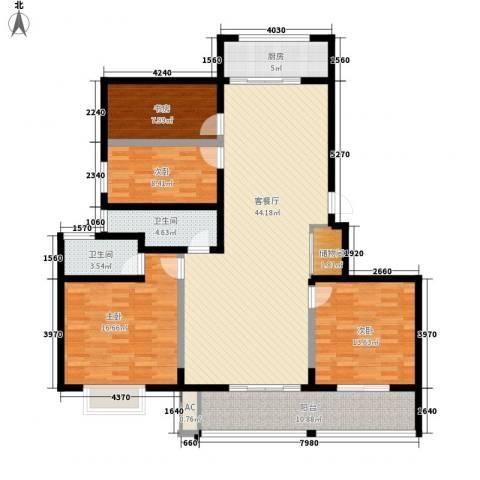 博奥东苑4室1厅2卫1厨142.00㎡户型图