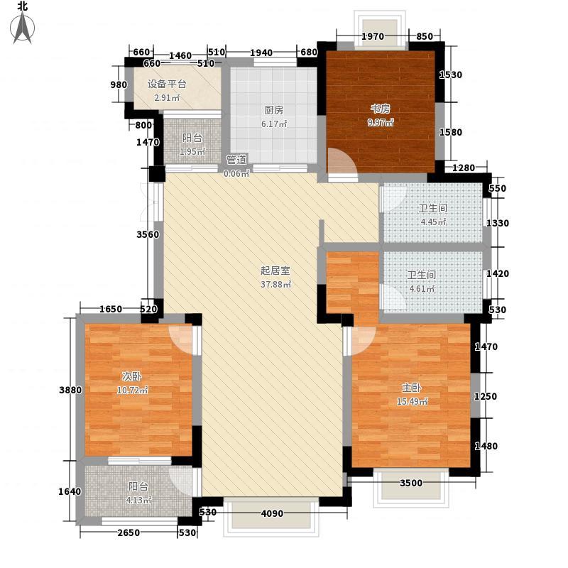 德诚翰景园142.00㎡德诚翰景园户型图8#楼D户型3室2厅2卫1厨户型3室2厅2卫1厨