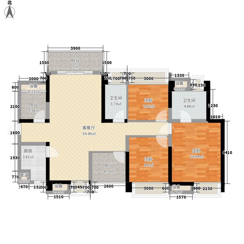 长虹国际城122.00㎡二期B户型