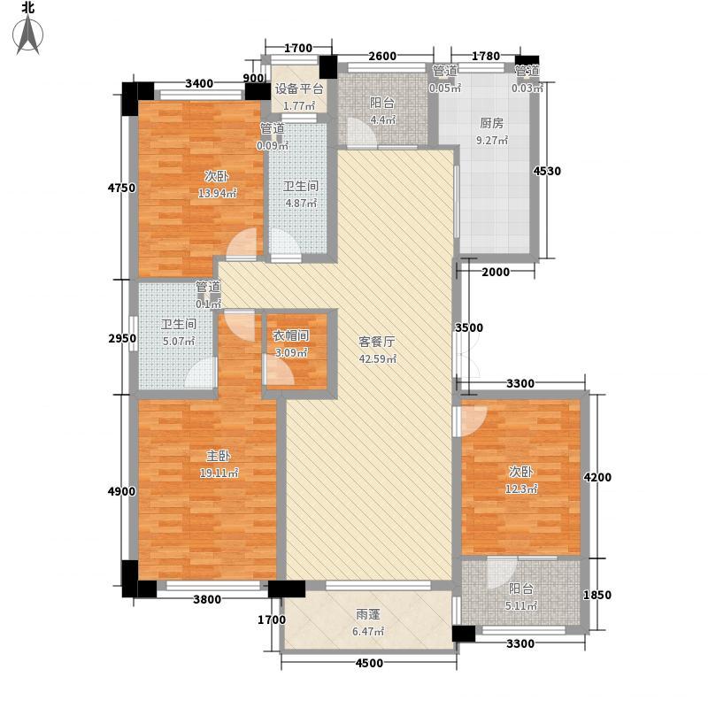 肯彤国际157.43㎡4#C户型3室2厅2卫1厨