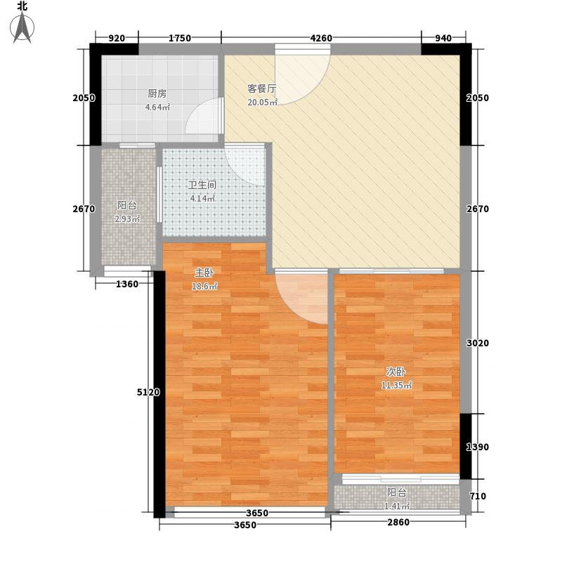 莲花E区88.00㎡户型2室