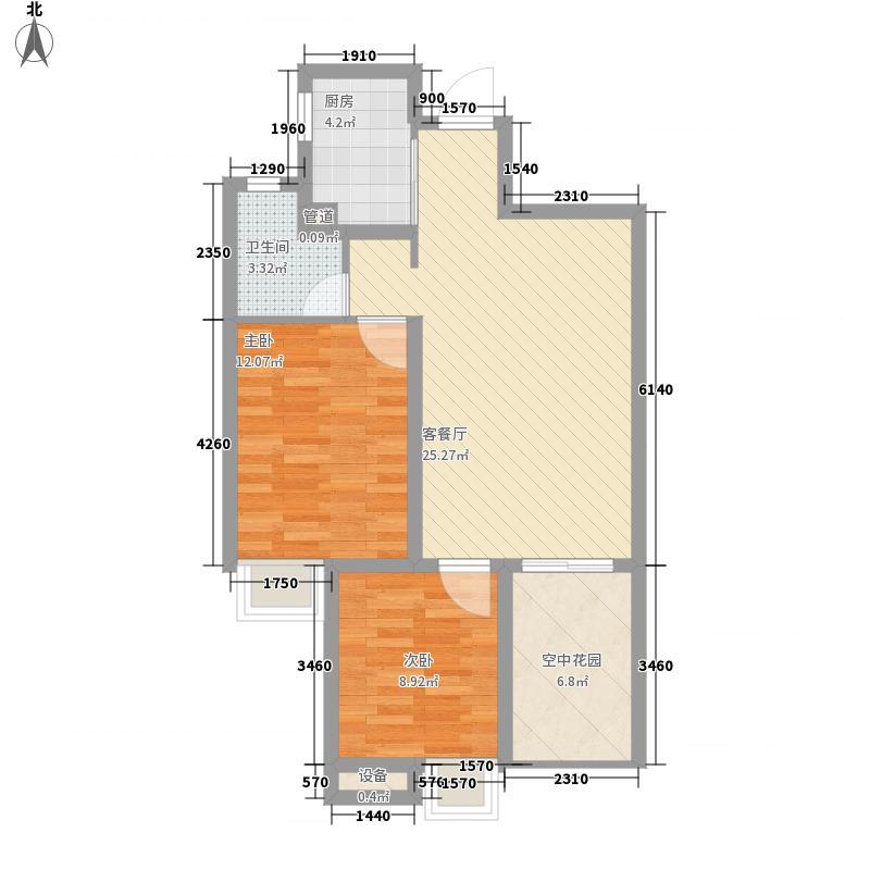 莲花E区88.00㎡莲花E区2室户型2室