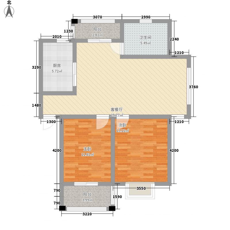 绿洲花园90.19㎡绿洲花园户型图四期11#AB5户型2室2厅1卫1厨户型2室2厅1卫1厨