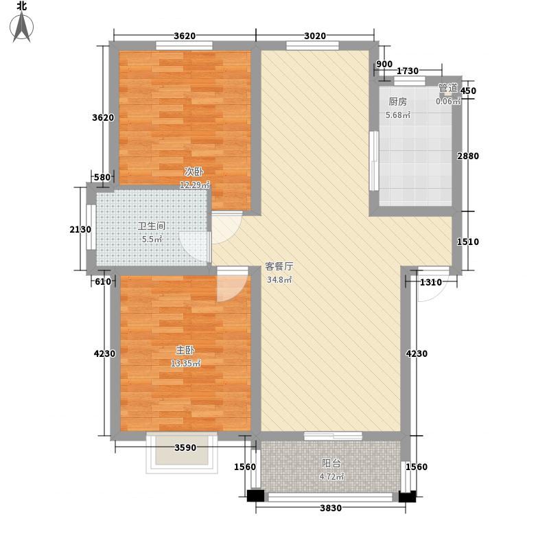 绿洲花园93.39㎡绿洲花园户型图四期5#AB10户型2室2厅1卫1厨户型2室2厅1卫1厨