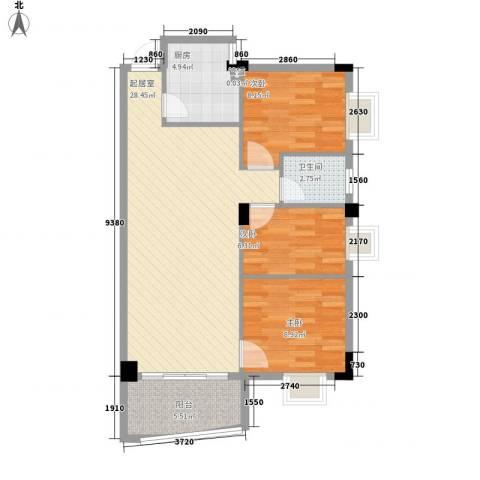 泰景花园3室0厅1卫1厨91.00㎡户型图