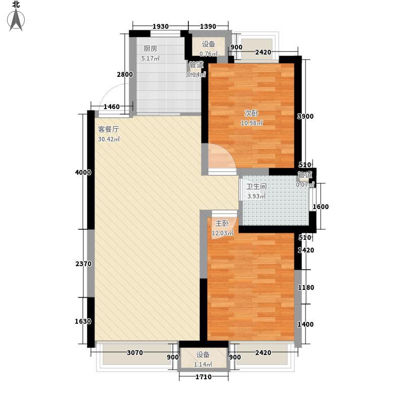 金地名京94.00㎡金地名京户型图32#户型图2室2厅1卫户型2室2厅1卫
