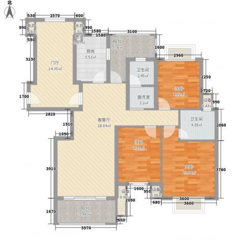 威尼斯水城别墅3室1厅2卫1厨147.00㎡户型图