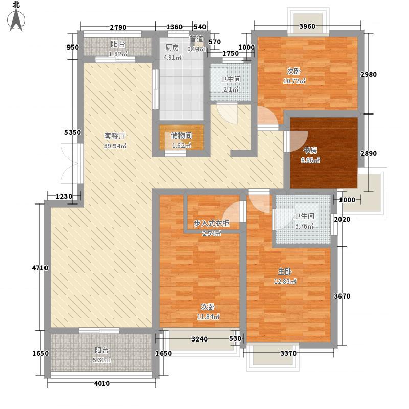 翠微品墅151.48㎡C5户型4室2厅2卫