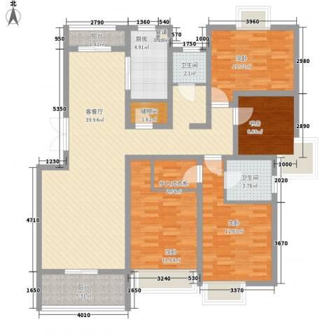 翠微品墅4室1厅2卫1厨151.00㎡户型图