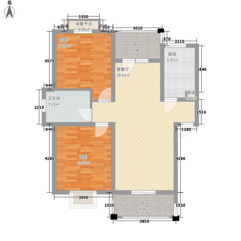 绿洲花园90.02㎡绿洲花园户型图四期31#AB10户型2室2厅1卫1厨户型2室2厅1卫1厨