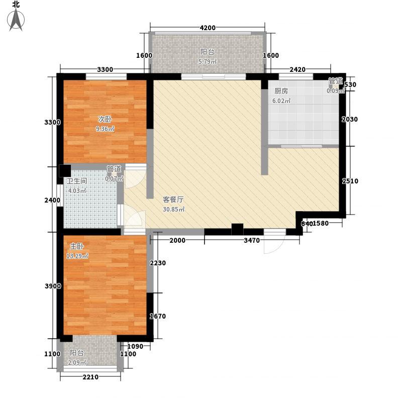 三汇悦郡11.22㎡4户型2室2厅1卫1厨