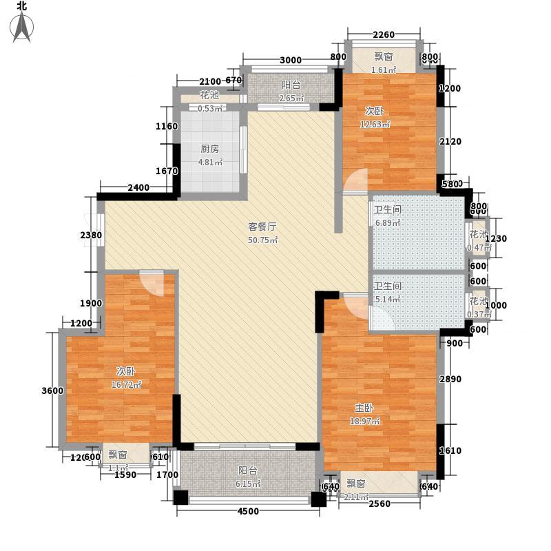 凰樵假日147.10㎡3座2号楼02单位户型3室2厅2卫1厨