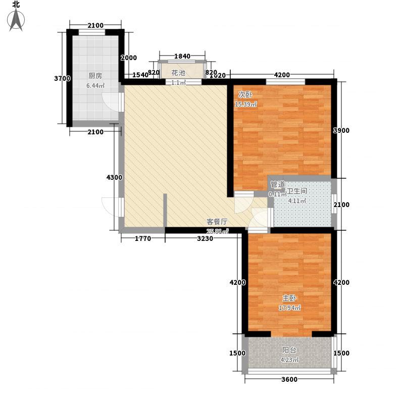 三汇悦郡1.51㎡5户型2室2厅1卫1厨
