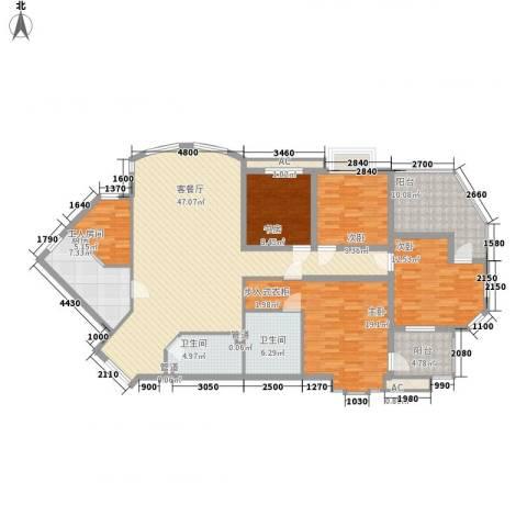 浅水湾城市花园4室1厅2卫1厨154.52㎡户型图