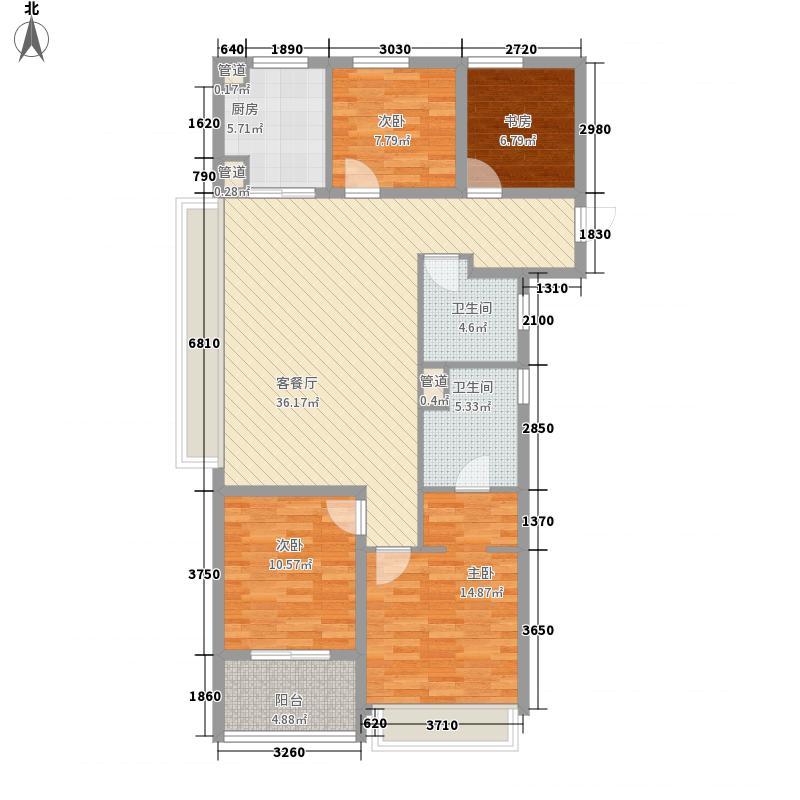 万科璞悦湾130.00㎡高层C1户型