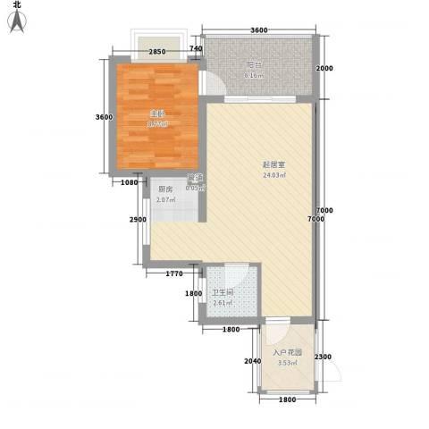 锦绣蓝湾1室0厅1卫0厨65.00㎡户型图
