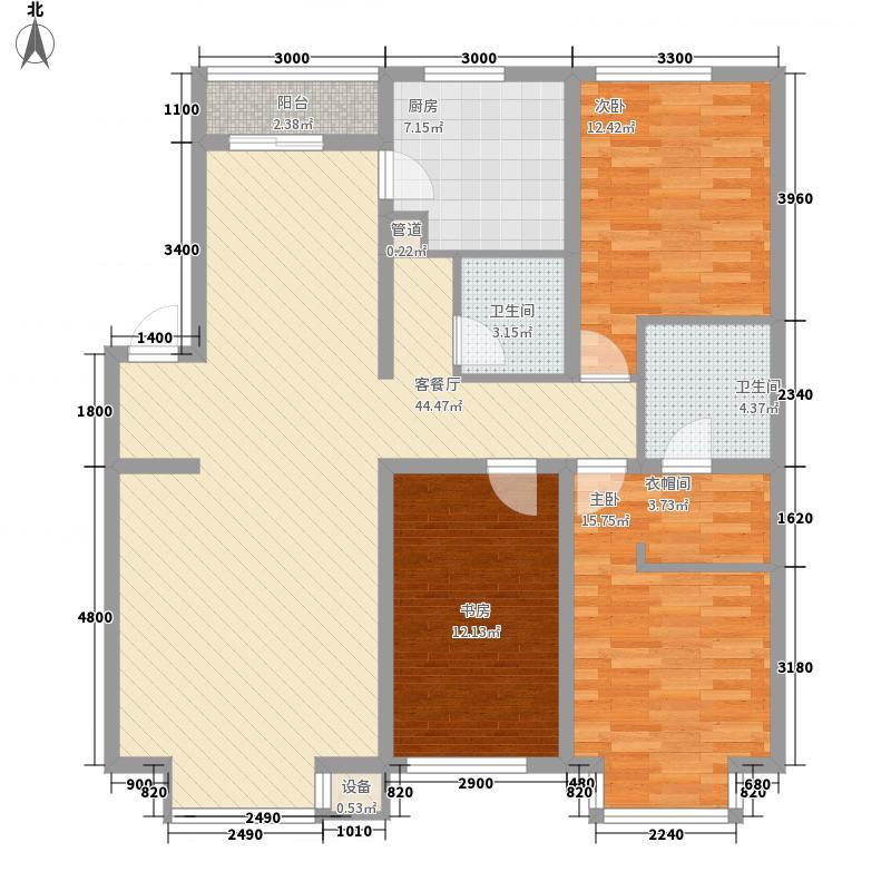 罗曼春天户型图3室2厅2卫