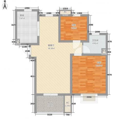 善景园2室1厅1卫1厨85.00㎡户型图