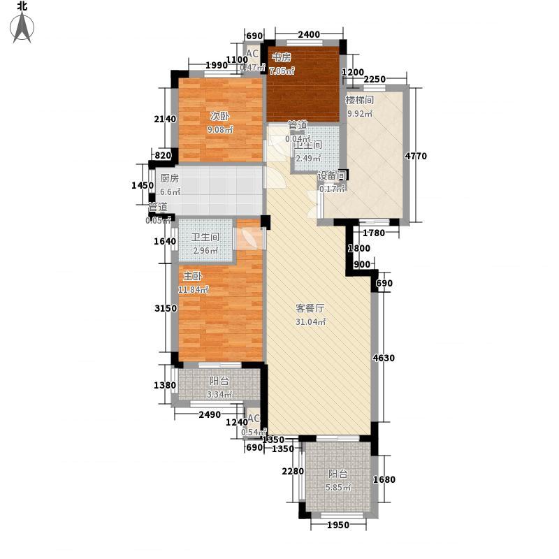 英郡1949131.57㎡英郡1949户型图6#7#楼G户型3室2厅2卫1厨户型3室2厅2卫1厨