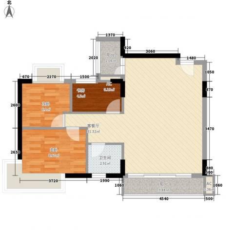 石竹苑3室1厅1卫0厨85.00㎡户型图