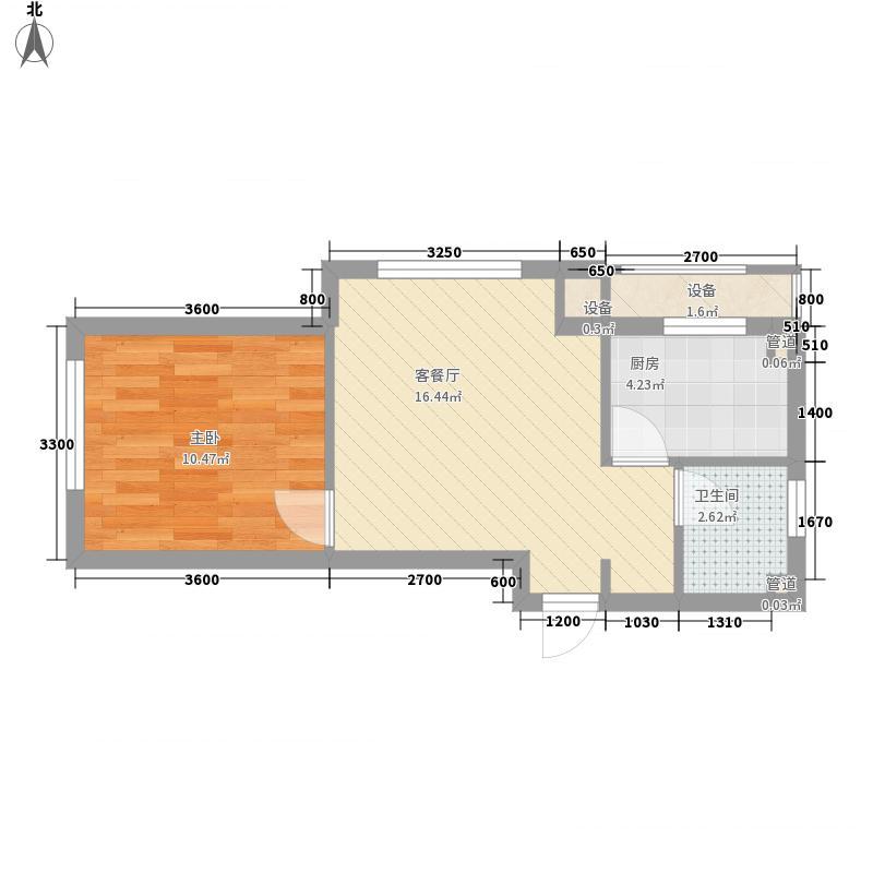 罗曼春天52.00㎡罗曼春天户型图1室1厅1卫户型10室